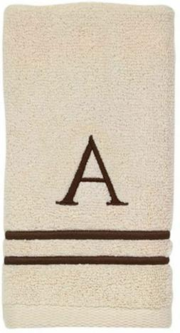 Avanti Linens 050876A Block Monogram Bath/Hand and Fingertip