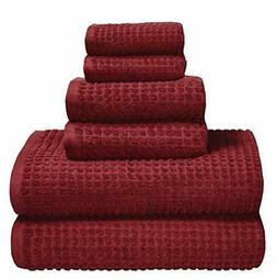 GLAMBURG 100% OEKOTEX Organic Cotton 6 -Piece Towel Set GOTS