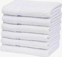 """12 Pieces White 16"""" x 27"""" 100% Cotton Blend Salon Towels Gym"""