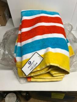 2 -Glamburg 100%  Super Soft Cotton Orange Blue Yellow Beach