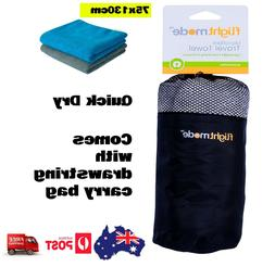 2X Microfibre Travel Towel Lightweight Fast Quick Drying Gym