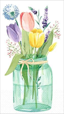 32ct Tulip Garden Spring Paper Guest Dinner Buffet Napkins T