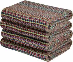4 Pack Yarn Dyed Terry Velour Bath Towels, Beach Towels Roya