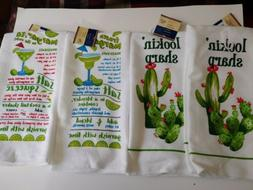 4 pc Kitchen Home Collection 2-Cactus/2-Margarita Dish Towel