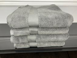 4 Piece Ralph Lauren Wescott Bathroom Bath Towel Set Dark Gr