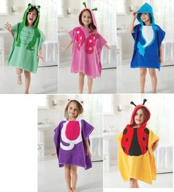 5 Colors Baby Hooded Poncho Boys And Girls Bath Towel With C