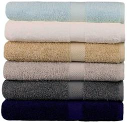 Springfield Linen 6 Pack Bath Towels Extra-Absorbent 100% Co