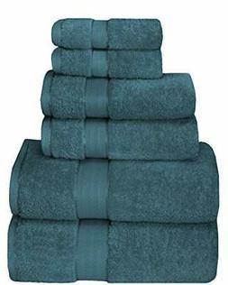 GLAMBURG 700 GSM Premium Cotton 6-Piece Towel Set - 100% Com