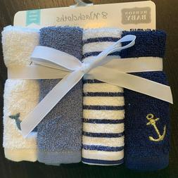 Hudson Baby 8 Pack Nautical 100% Cotton Terry Washcloths