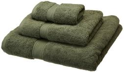 900GSM Egyptian Cotton 3-Piece Towel Set Forest Green