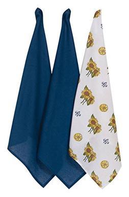 Kay Dee Designs Kitchen Towels Flour Sack Dish Set of 3 Sunf