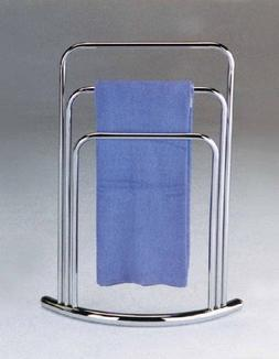 King's Brand Chrome Finish Towel Rack Stand