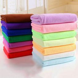Absorbent Microfiber Fiber Towel Beach Drying Bath Washcloth