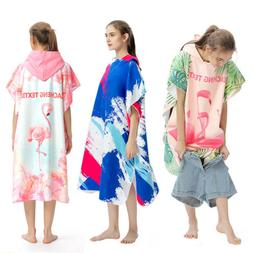 Adult Beach Towels Quick Drying Hooded Changing Robe Sunscre