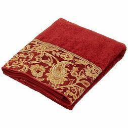 Avanti Linens Arabesque Fingertip Towel, Brick