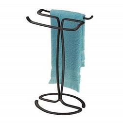 iDesign Axis Metal Hand Towel Holder for Master Bathroom, Va