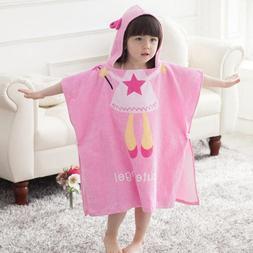 Baby Kid Boys Girls Hooded Towel for Bath Beach Pool Cotton