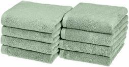 Basics Quick-Dry Hand Towels, 100% Cotton, Set of 8, Seafoam