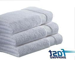 100% COTTON bath towels-ga towel brand-24x48 inches-white- 1