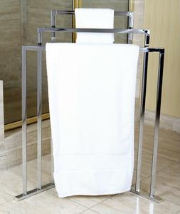 Bathroom Accessories 3 Bar Chrome Free Standing Corner Towel
