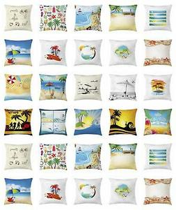 Ambesonne Beach Accent Pillow Case with 8 Sizes Living Room