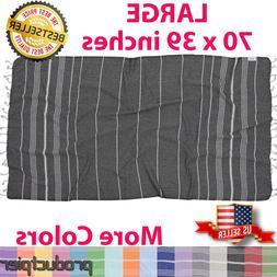 Best Turkish 100% Cotton Towel Fouta Peshtemal for Beach Bat