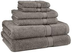 Pinzon Blended Egyptian Cotton 6-Piece Towel Set, Grey