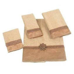 Avanti Linens Braided Cuff 4 Piece 100% Cotton Towel Set