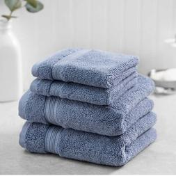 Charisma Bumpy Rib 4-piece Towel Set, 100% Hygro Cotton