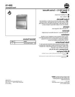 bx towel dispenser 250 15 multi fold
