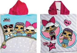 LOL Surprise Childrens Girls Soft Poncho Bath Towel L.O.L Ro