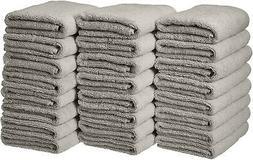 AmazonBasics Cotton Hand Towels - Pack Of 24, Grey