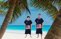 Lightahead Cotton Surf Beach Hooded Poncho Changing Bath Rob