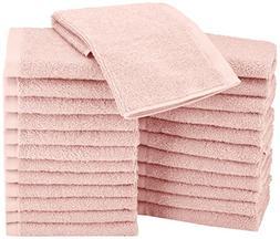 AmazonBasics Washcloth - Pack of 24, Petal Pink