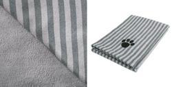 DII Bone Dry Microfiber Dog Bath Towel with Embroidered Paw