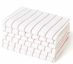 Glass Towel 24 Pcs Tea Towel Cloth 100% Cotton Kitchen Red S