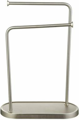 AmazonBasics Double-L Hand Towel Holder and Accessories Stan