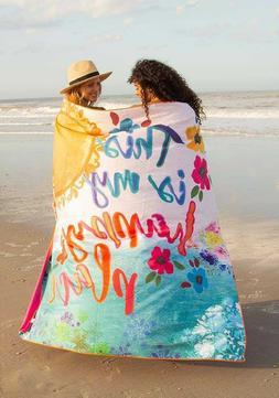 NATURAL LIFE DOUBLE MICROFIBER BEACH TOWEL + BAG Beach This