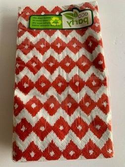 Amscan Eco Party Coral Diamond Guest Towel 16 Ct Napkins Fal