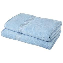 Superior Egyptian Cotton 2-Piece Bath Sheet Set, Light Blue