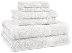 Egyptian Cotton Towel Set Blue 6 Towels Bath Soft Extra Larg