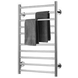 Electric Towel Rail Rack 10-bar Rung Heated Bathroom Warmer