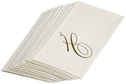 Entertaining with Caspari White Pearl Paper Linen Guest Towe