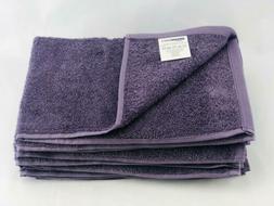 AmazonBasics Fade-Resistant Towel Set 6-Piece Purple