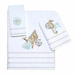 Avanti Linens Farmhouse Shell 3 Pc Towel Set - White
