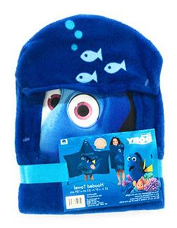 Disney Finding Dory Hooded Towel For Bath, Pool, or Beach Wr