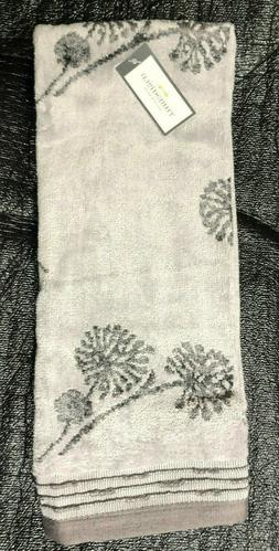 "Threshold Hand Towel Dandelion Pattern Grey 15"" x 25"""