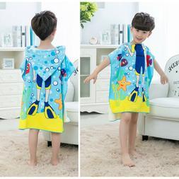 Hooded Poncho Beach Summer Bath Towel NEW for Kids Children