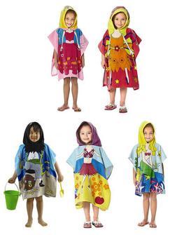 Hooded Poncho Kids Towel Beach Pool Bath Hoodie Girl Boy Mer