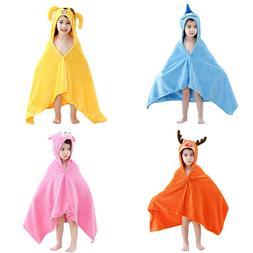 Kids Boy Girl Hooded Poncho Swim Beach Bath Towel Wear Bathr